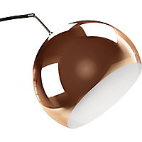 Lampadaire Brillant Nereide cuivre H.202 cm