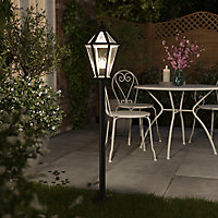 Lampadaire extérieur E27 Hexagonale IP44 120x21cm Noir
