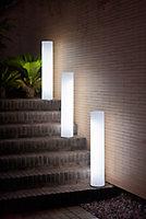 Lampadaire LED T8 ⌀19cm 1400lm IP65 14W lumière variable Blanc froid Newgarden