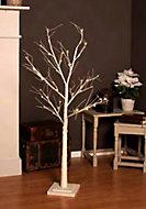 Lampe arbre blanc 48 LED blanc chaud h.130 cm