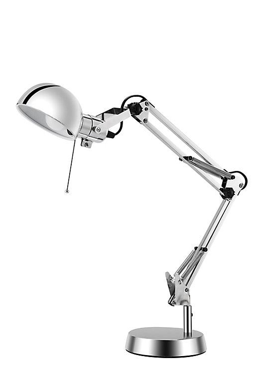 lampe de bureau bakossi e14 ip20 argent  castorama