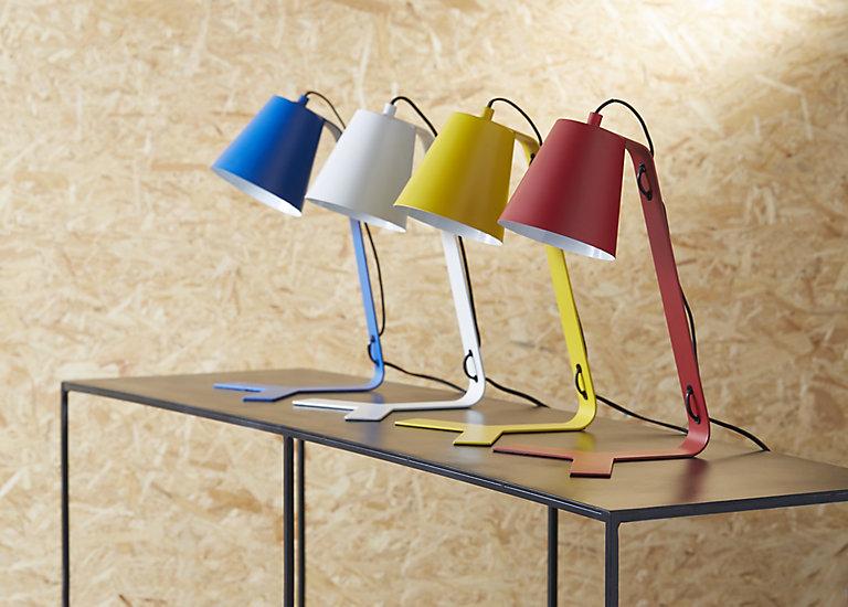Lampe De Bureau Colours Clover Blanc Mat Castorama