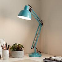 Lampe de bureau Ginaz E14 IP20 bleu