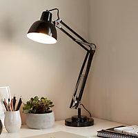 Lampe de bureau Ginaz E14 IP20 noir