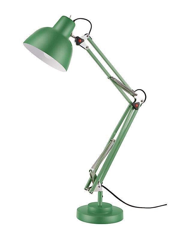 lampe de bureau ginaz e14 ip20 vert  castorama