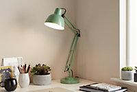 Lampe de bureau Ginaz E14 IP20 vert