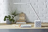 Lampe de bureau LED Xanlite Audiolux blanc mat