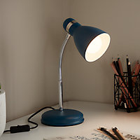 Lampe de bureau Naraji E27 IP20 bleu