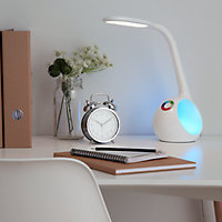 Lampe de table LED intégrée Ouhoro 500lm IP20 11.5W GoodHome Blanc