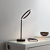 Lampe de table LED intégrée Taphao 720lm IP20 12W GoodHome Noir