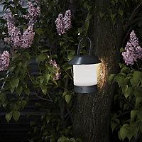 Lampe extérieure LED intégrée Arrondie 250lm 5W IP44 25x16cm Noir