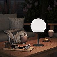 Lampe extérieure LED intégréeBoule 200lm 3W IP54 28x16cm Gris