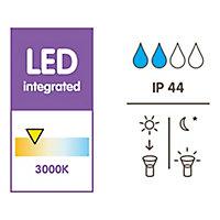Lampe extérieure Triangulaireà énergie solaire 0.04W IP44 30x15cm Noir