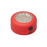 Lampe LED magnétique ronde rouge Diall 68 lumens