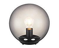 Lampe à poser Barool E27 IP20 verre fumé