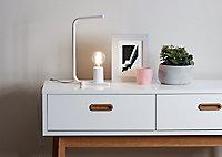 Lampe à poser Darrah E27 IP20 blanc