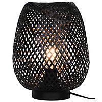Lampe à poser Kasungu E27 IP20 blanc et noir