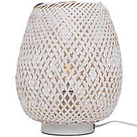 Lampe à poser Kasungu E27 IP20 blanc