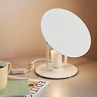 Lampe à poser Kiranat E27 IP20 blanc
