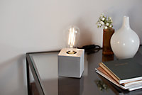 Lampe à poser Qausuit E27 IP20 gris foncé