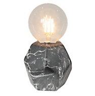 Lampe à poser Roky marbre noir E27