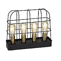 Lampe à poser Terneg métal noir H. 33 cm E27 240W