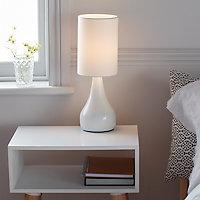Lampe à poser Tertrez E14 IP20 blanc