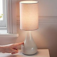Lampe à poser Tertrez E14 IP20 gris clair