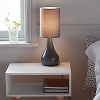 Lampe à poser Tertrez E14 IP20 gris