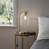 Lampe à poser Thestias E27 IP20 verre et métal