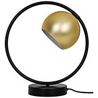 Lampe à poser Toroba E14 IP20 or et noir
