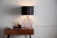 Lampe à poser Vertree E27 IP20 cuivre