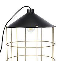 Lampe à poser Yondair E27 IP20 noir