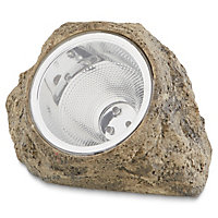 Lampe solaire décorative LED galet IP44