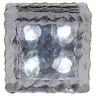 Lampe solaire LED Glaçon verre 10 cm IP65