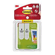 Languettes accroches tableaux blanches petites/moyennes Command, Multi-pack, 8ensemblesM + 4ensemblesS