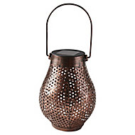 Lanterne de jardin solaire LED cuivre IP44