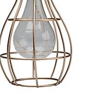 Lanterne solaire décorative LED Cage dorée IP44