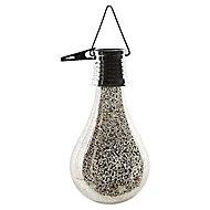 Lanterne solaire LED Ampoule argent IP44