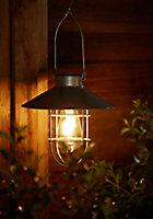 Lanterne solaire LED industrielle chrome IP44