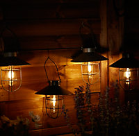 Lanterne solaire LED industrielle noir IP44