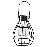 Lanterne solaire LED noir IP44