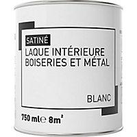 Laque boiseries et métal Blanc Satin 0,75L