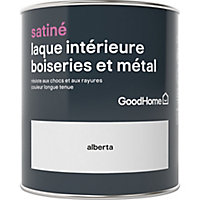 Laque boiseries et métal GoodHome Alberta Satin 0,75L