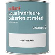 Laque boiseries et métal GoodHome Blanc Brillant 0,75L