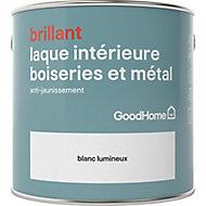 Laque boiseries et métal GoodHome Blanc Brillant 2,5L