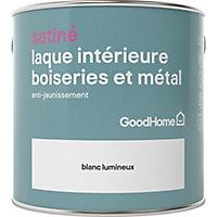 Laque boiseries et métal GoodHome Blanc Satin 2,5L
