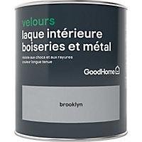 Laque boiseries et métal GoodHome Brooklyn Velours 0,75L