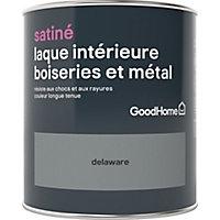 Laque boiseries et métal GoodHome Delaware Satin 0,75L
