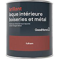 Laque boiseries et métal GoodHome Fulham Brillant 0,75L